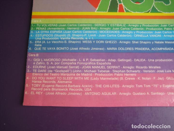 Discos de vinilo: SOLO EXITOS - LP RECOP NOVOLA 1975 - SERRAT - MOCEDADES - ORNELLA VANONI - ETC 12 TEMAS - SIN USO - Foto 4 - 263756150