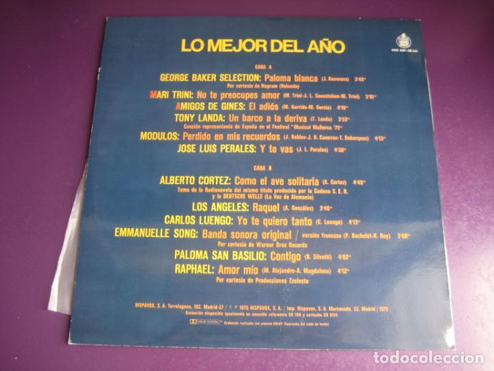 Discos de vinilo: LO MEJOR DEL AÑO - LP HISPAVOX 1975 - MODULOS - PERALES - LOS ANGELES - RAPHAEL - EMMANUELLE ETC - Foto 2 - 263756790