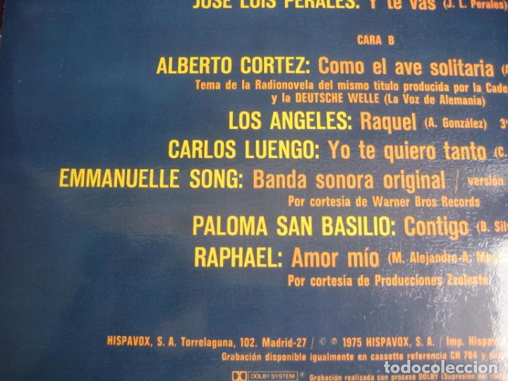 Discos de vinilo: LO MEJOR DEL AÑO - LP HISPAVOX 1975 - MODULOS - PERALES - LOS ANGELES - RAPHAEL - EMMANUELLE ETC - Foto 4 - 263756790
