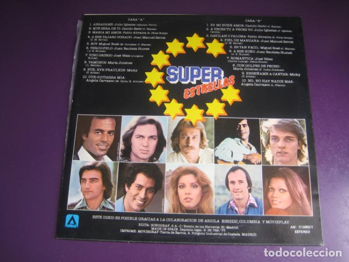 Discos de vinilo: SUPER ESTRELLAS - LP AMBAR RECOP 1977 - CAMILO SESTO - MIGUEL BOSE - SERRAT - JULIO IGLESIAS ETC - Foto 2 - 263758560