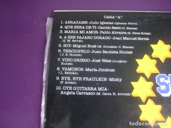 Discos de vinilo: SUPER ESTRELLAS - LP AMBAR RECOP 1977 - CAMILO SESTO - MIGUEL BOSE - SERRAT - JULIO IGLESIAS ETC - Foto 3 - 263758560