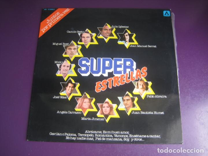 SUPER ESTRELLAS - LP AMBAR RECOP 1977 - CAMILO SESTO - MIGUEL BOSE - SERRAT - JULIO IGLESIAS ETC (Música - Discos - LP Vinilo - Grupos Españoles de los 70 y 80)