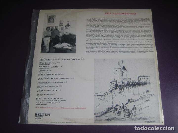 Discos de vinilo: ELS VALLDEMOSSA CANTEN EL FOLKLORE DE MALLORCA - LP BELTER 1972 - FOLK POP 70S - LEVE USO - Foto 2 - 263776450
