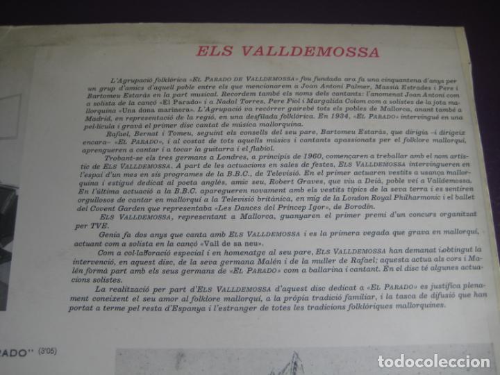 Discos de vinilo: ELS VALLDEMOSSA CANTEN EL FOLKLORE DE MALLORCA - LP BELTER 1972 - FOLK POP 70S - LEVE USO - Foto 3 - 263776450
