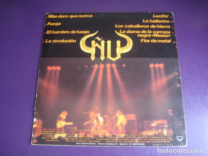 Discos de vinilo: Ñu – Fuego - LP CHAPA 1983 EDICION ORIGINAL CON LETRAS Y POCO USO - HARD ROCK FOLK METAL - Foto 3 - 263777150