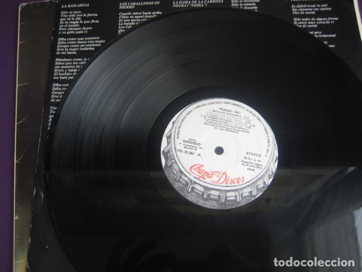 Discos de vinilo: Ñu – Fuego - LP CHAPA 1983 EDICION ORIGINAL CON LETRAS Y POCO USO - HARD ROCK FOLK METAL - Foto 6 - 263777150