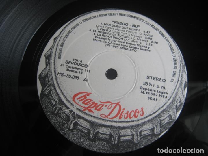 Discos de vinilo: Ñu – Fuego - LP CHAPA 1983 EDICION ORIGINAL CON LETRAS Y POCO USO - HARD ROCK FOLK METAL - Foto 7 - 263777150