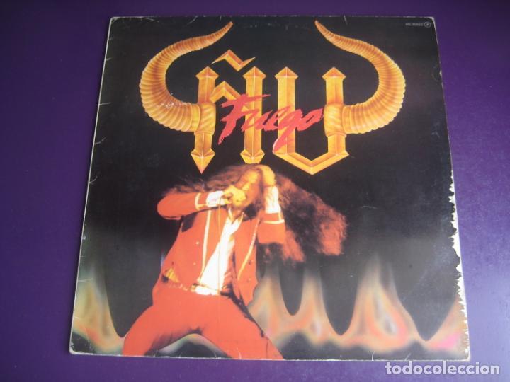 ÑU – FUEGO - LP CHAPA 1983 EDICION ORIGINAL CON LETRAS Y POCO USO - HARD ROCK FOLK METAL (Música - Discos - LP Vinilo - Grupos Españoles de los 70 y 80)