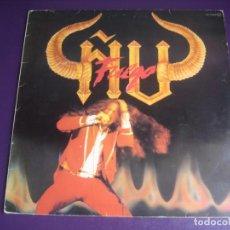 Discos de vinilo: ÑU – FUEGO - LP CHAPA 1983 EDICION ORIGINAL CON LETRAS Y POCO USO - HARD ROCK FOLK METAL. Lote 263777150