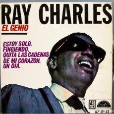 Discos de vinilo: EP. RAY CHARLES. EL GENIO. ESTOY SOLO. Lote 263789525