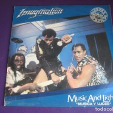Discos de vinilo: IMAGINATION ‎– MUSIC AND LIGHTS = MUSICA Y LUCES - MAXI SINGLE RED BUS 1982 - ELECTRONICA DISCO 80'S. Lote 263803455