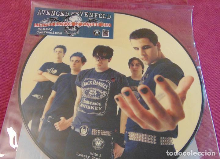 Discos de vinilo: Avenged Sevenfold – Unholy Confessions - maxisingle picture disc RSD 2010 - Foto 2 - 263743270