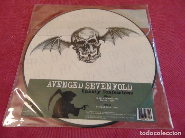 Discos de vinilo: Avenged Sevenfold – Unholy Confessions - maxisingle picture disc RSD 2010 - Foto 4 - 263743270