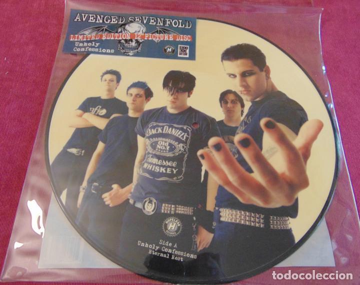 AVENGED SEVENFOLD – UNHOLY CONFESSIONS - MAXISINGLE PICTURE DISC RSD 2010 (Música - Discos de Vinilo - Maxi Singles - Heavy - Metal)