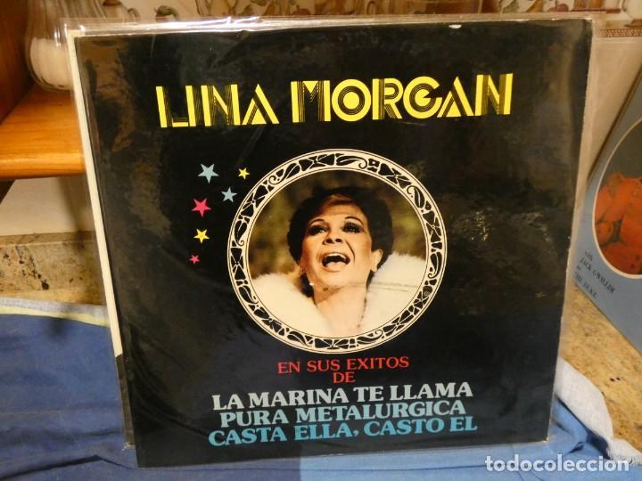 LP EXITOS LINA MORGAN 1980 BUEN ESTADO GENERAL (Música - Discos - LP Vinilo - Jazz, Jazz-Rock, Blues y R&B)