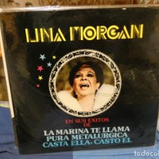 Discos de vinilo: LP EXITOS LINA MORGAN 1980 BUEN ESTADO GENERAL. Lote 263886235