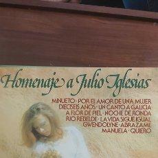 Discos de vinilo: MAGNIFICO LP - EN - HOMENAJE A JULIO IGLESIAS. Lote 263890220