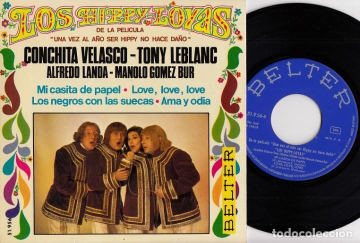 LOS HIPPY-LOYAS – MI CASITA DE PAPEL / LOVE, LOVE, LOVE / LOS NEGROS CON LAS SUECAS / AMA Y ODIA EP (Música - Discos de Vinilo - EPs - Grupos Españoles 50 y 60)