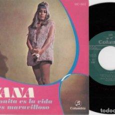 Discos de vinilo: IVANA - QUE BONITA ES LA VIDA - SINGLE DE VINILO. Lote 263907765