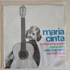 Discos de vinilo: MARIA CINTA - TU M'ACOMPANYES +3 - EP EDIGSA DEL AÑO 1964 EN BUEN ESTADO. Lote 263910670