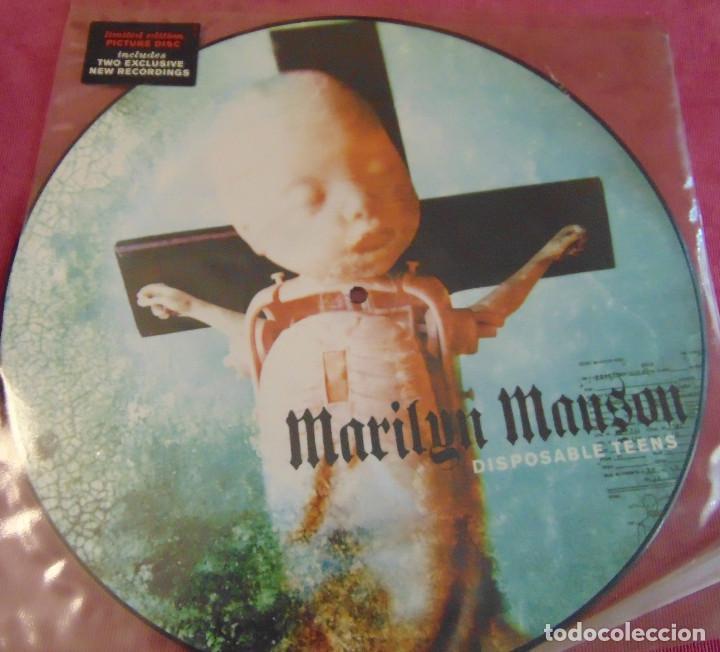 Discos de vinilo: Marilyn Manson – Disposable Teens - MAXISINGLE 12 PICTURE DISC 2000 - Foto 2 - 263751230