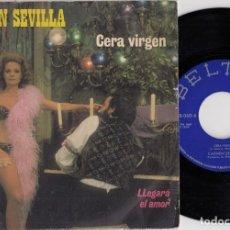 Discos de vinilo: CARMEN SEVILLA -CERA VIRGEN -SINGLE 1972 BANDA SONORA DE LA PELICULA - SINGLE DE VINILO. Lote 263941515