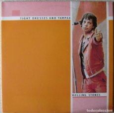 Discos de vinilo: ROLLING STONES.TIGHT DRESSES AND TAMPAX.LIVE CHICAGO 8-JUL-1978..DOBLE LP NO OFICIAL COMO NUEVO. Lote 263959945