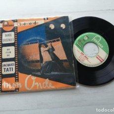 "Dischi in vinile: FRANCK BARCELLINI & ALAIN ROMANS – BSO JACQUES TATI ""MON ONCLE"" EP FRANCIA 1964 BUEN ESTADO. Lote 264033170"