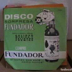 Discos de vinilo: LOTE EXCEPCIONAL DISCOS SORPRESA FUNDADOR - 45 DIFERENTES. Lote 264036610