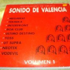 Discos de vinilo: RECOPILATORIO DE GRUPOS. SONIDO DE VALENCIA. VOL. 1. TECNO INDUSTRIAL BEAT. MEGABEAT.. Lote 264043930