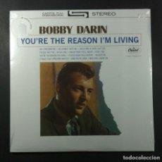 Discos de vinilo: BOBBY DARIN - YOU'RE THE REASON I'M LIVING - LP REEDICION 2017 - CAPITOL (NUEVO). Lote 264049255