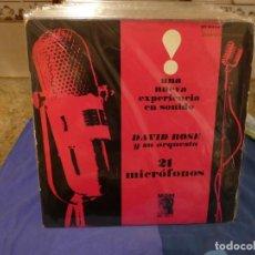 Discos de vinilo: LP MGM ESPAÑA PROB 1962 BUEN ESTADO VINILO DAVID ROSE Y ORCH 21 MICROFONOS. Lote 264052415