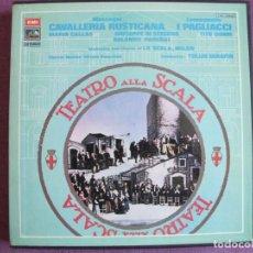 Discos de vinilo: BOX SET - MASCAGNI-CAVALLERIA RUSTICANA / LEONCAVALLO-I PAGLIACCI (CONTIENE 3 LP'S Y LIBRETOS). Lote 264060035