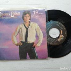 Discos de vinilo: JOHNNY LOGAN – POR UN AÑO MÁS SINGLE EUROVISION 1980 BUEN ESTADO. Lote 264064235