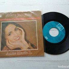Discos de vinilo: ANNE MARIE B.* – FRÈRE JACQUES SINGLE EUROVISION 1977 VINILO COMO NUEVO PORTADA MUY BIEN. Lote 264066850