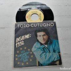 Discos de vinilo: TOTO CUTUGNO – INSIEME: 1992 SINGLE EUROVISION 1992 COMO NUEVO. Lote 264067400