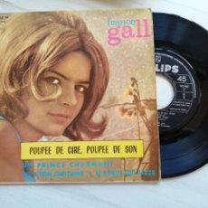 Discos de vinilo: FRANCE GALL – POUPÉE DE CIRE, POUPÉE DE SON EP SPAIN 1965 EUROVISION VG++/VG++. Lote 264070415