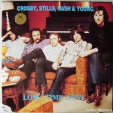 Discos de vinilo: CROSBY,STILL,NASH & YOUNG.LONG TIME GONE..SWINGUIN´ PIG..DOBLE..NO OFICIAL..COMO NUEVOS. Lote 264080830