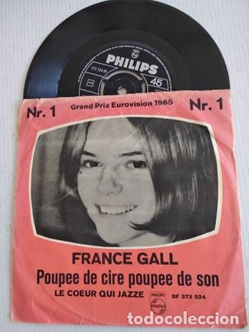 FRANCE GALL – POUPÉE DE CIRE POUPÉE DE SON EUROVISION 1965 (Música - Discos - Singles Vinilo - Festival de Eurovisión)