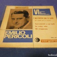 Discos de vinilo: DISCO 7 PULGADAS EP ESPAÑOL VINILO BUEN ESTADO EMILIO PERICOLI 1964. Lote 264186820