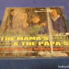 Discos de vinilo: DISCO 7 PULGADAS SINGLE ESPAÑOL THE MAMAS AND THE PAPAS VINILO AUDIBLE 1966. Lote 264187196