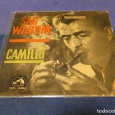 Discos de vinilo: DISCO 7 PULGADAS EP ESPAÑOL CAMILO SAG WARUM BUEN ESTADO 1962. Lote 264187532
