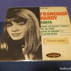 Discos de vinilo: DISCO 7 PULGADAS EP ESPAÑOL FRANCOISE HARDY CANTA VINILO BUEN ESTADO. Lote 264187592