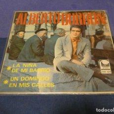 Discos de vinilo: DISCO 7 PULGADAS EP ESPAÑOL ALBERTO BURBON LA NIÑA DE MI BARRIO. Lote 264187636