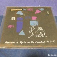 Discos de vinilo: DISCO 7 PULGADAS ESPAÑOL OBSEQUIO CAMISERIA GALES PASEO GRACIA 22 NAVIDAD 1957. Lote 264188504
