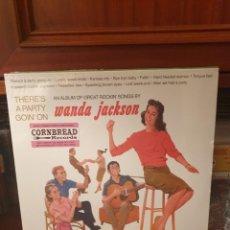 Discos de vinilo: WANDA JACKSON / THERE'S A PARTY GOIN ON / CORNBREAD RECORDS 2017. Lote 264202536