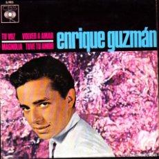 Discos de vinilo: EP ENRIQUE GUZMAN TU VOZ + 3 DISCOS CBS. Lote 264203524