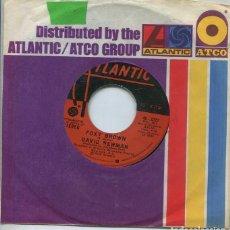 Disques de vinyle: DAVID NEWMAN / FOXY BROWN / BRANDY (SINGLE ATLANTIC 1975 USA). Lote 264234092