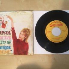 """Discos de vinilo: MARISOL - CANTA EL HIMNO DE LOS AMIGOS - SINGLE 7"""" - 1963 MUY RARO. Lote 264234468"""