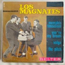 Disques de vinyle: LOS MAGNATES EP MEMPHIS TENNESSEE + 3 BELTER 1965. Lote 264237012